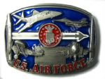 US AIR FORCE - 4 PLANES Belt Buckle + display stand